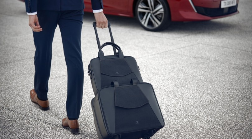 Peugeot Releases a Line of Luggage with details in Alcantara