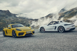 Porsche 718 Boxster Spyder and 718 Cayman GT4: Pure Driving Pleasure