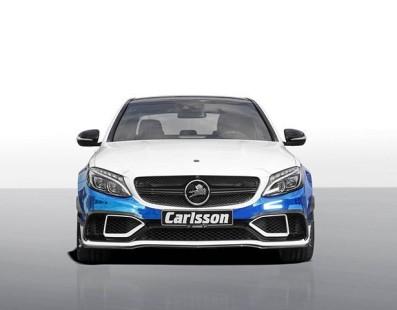 Carlsson C63 S AMG Gets 100HP More And A Mirror Blue Wrap