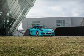 Techart 718 Cayman S: GT4-Cilindri Da Pelle d'Oca
