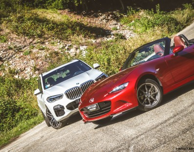 BMW X5 / Mazda MX-5   Test Drive