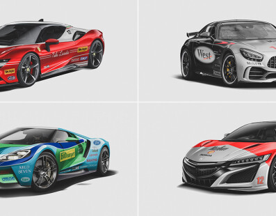 Iconic F1 Liveries Reimagined on Modern Road Cars