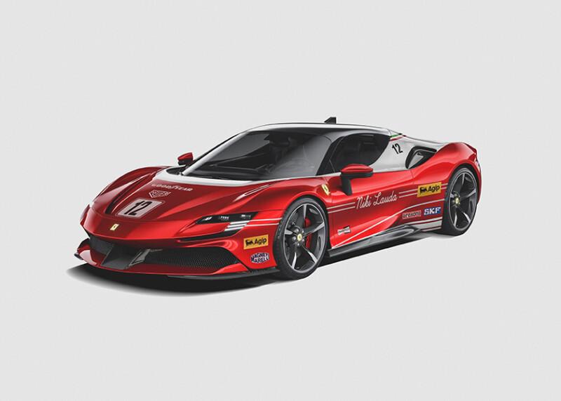 Niki Lauda - Ferrari SF90 Auto Class Magazine